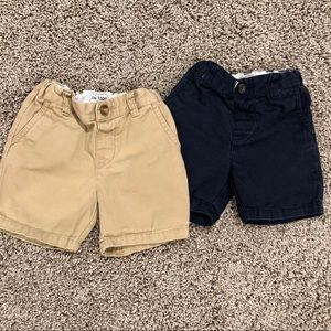 2 boys Children's Place chino shorts size 12-18M